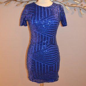 Dresses & Skirts - Royal Blue Sequin Dress